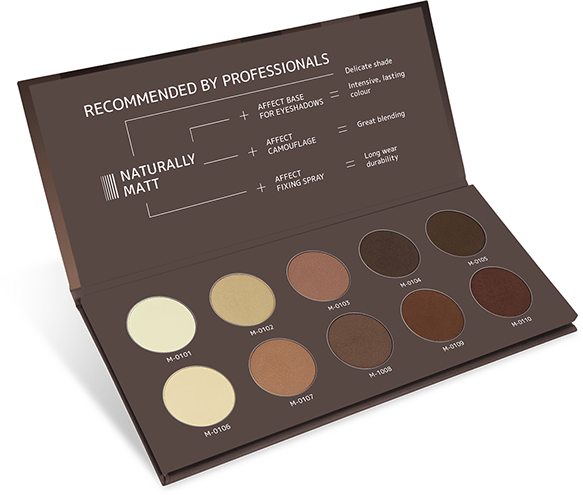 Naturally matt palette